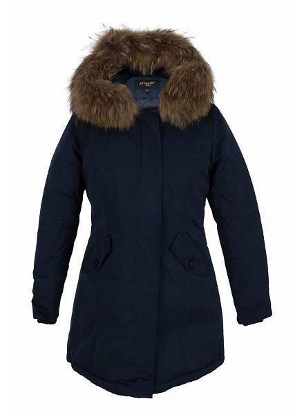 Winterjas parka blauw voor kinderen