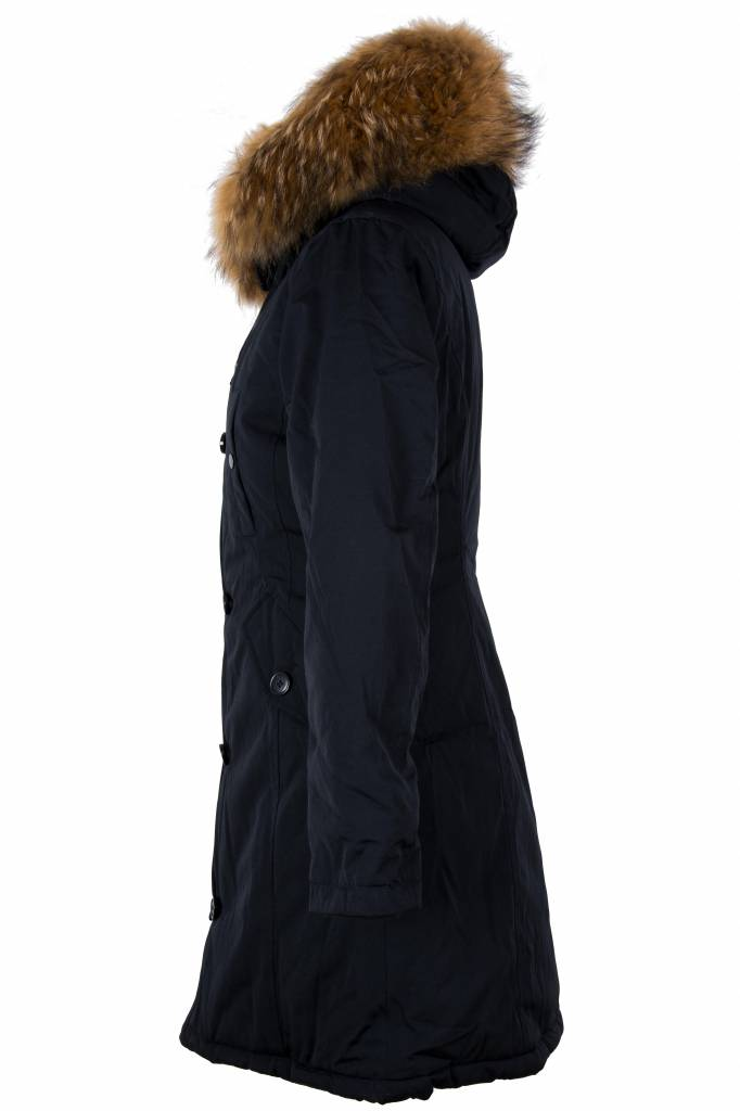 Dames Winterjas Lang.Lang Jas Winter Parka Leather City