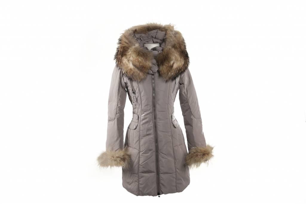 Lang Winterjas.Trendy Lang Winterjas Met Bont Leather City