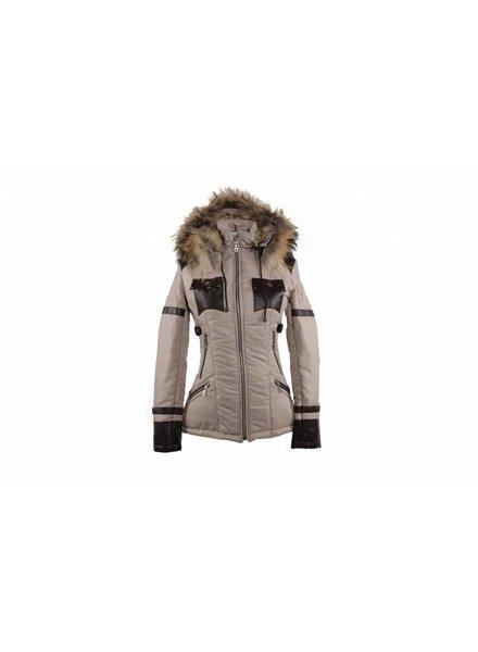 Adrexx Dames winterjas met Bontkraag Beige H&S