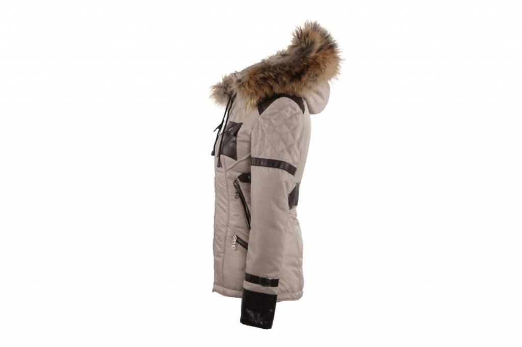 Adrexx Dames winterjas met BontkraagBeige H&S