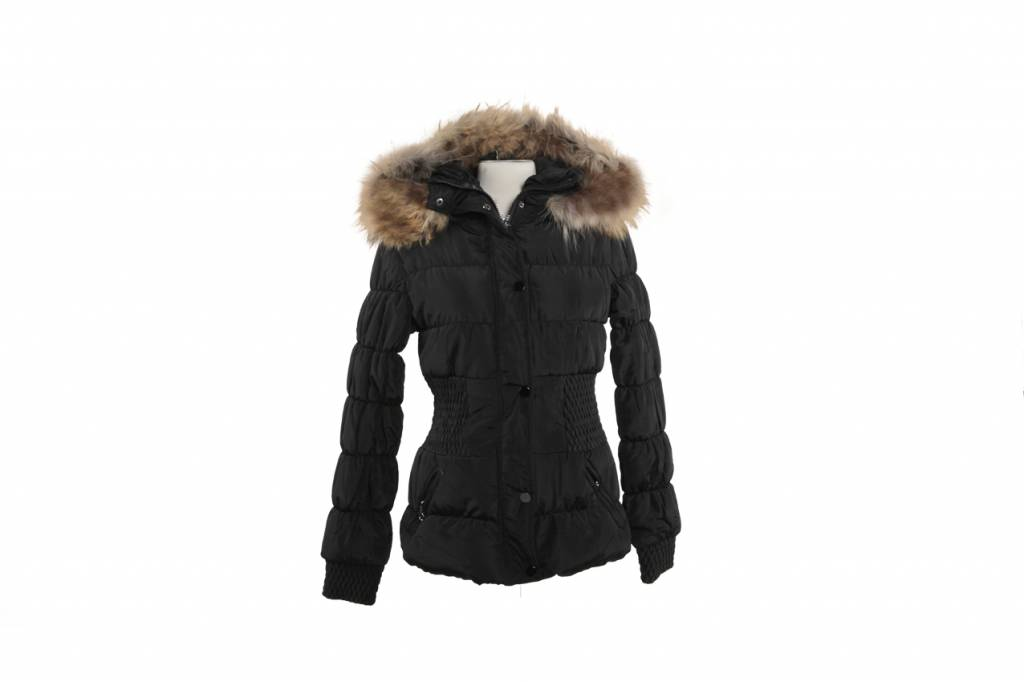 Winterjas Kort Dames.Kort Winter Dames Jas Met Bont Leather City