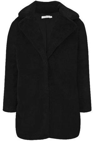 Lulu Dames bontjas zwart- Faux Fur