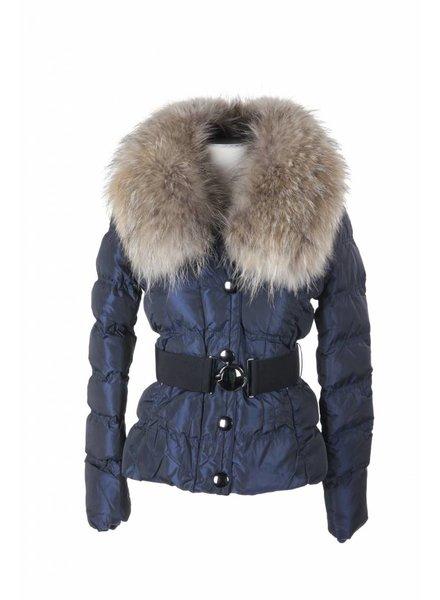 Adrexx Dames winterjas met Bontkraag MY603 blauw