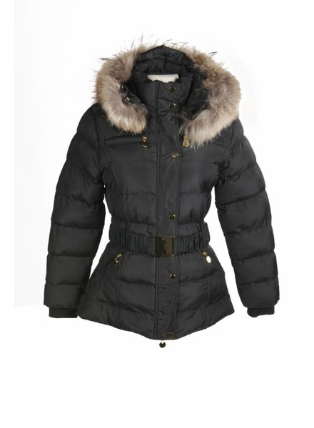 Adrexx Dames winterjas  met Bontkraag Zwart LC2116