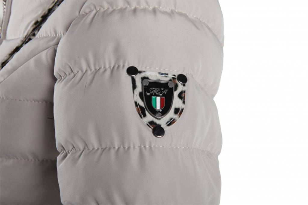 Milan Ferronetti Dames winterjas met Bontkraag Beige