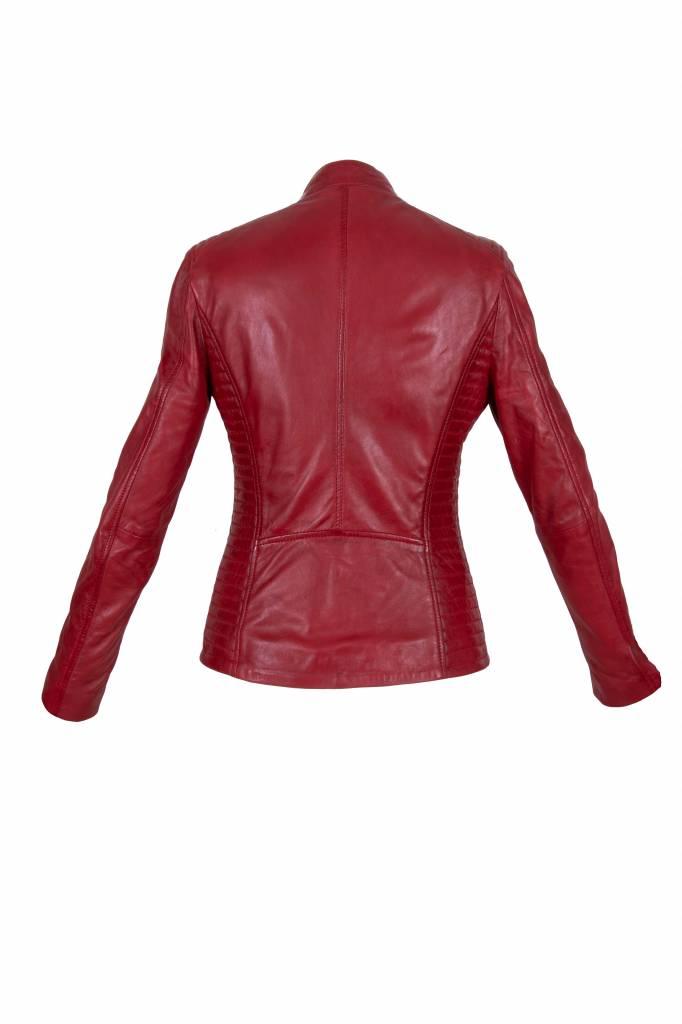 Leren jassen dames rood NLB