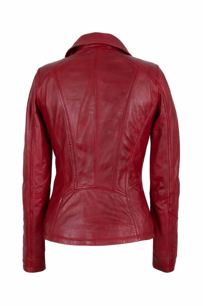 Dames leren jas rood 9938 A