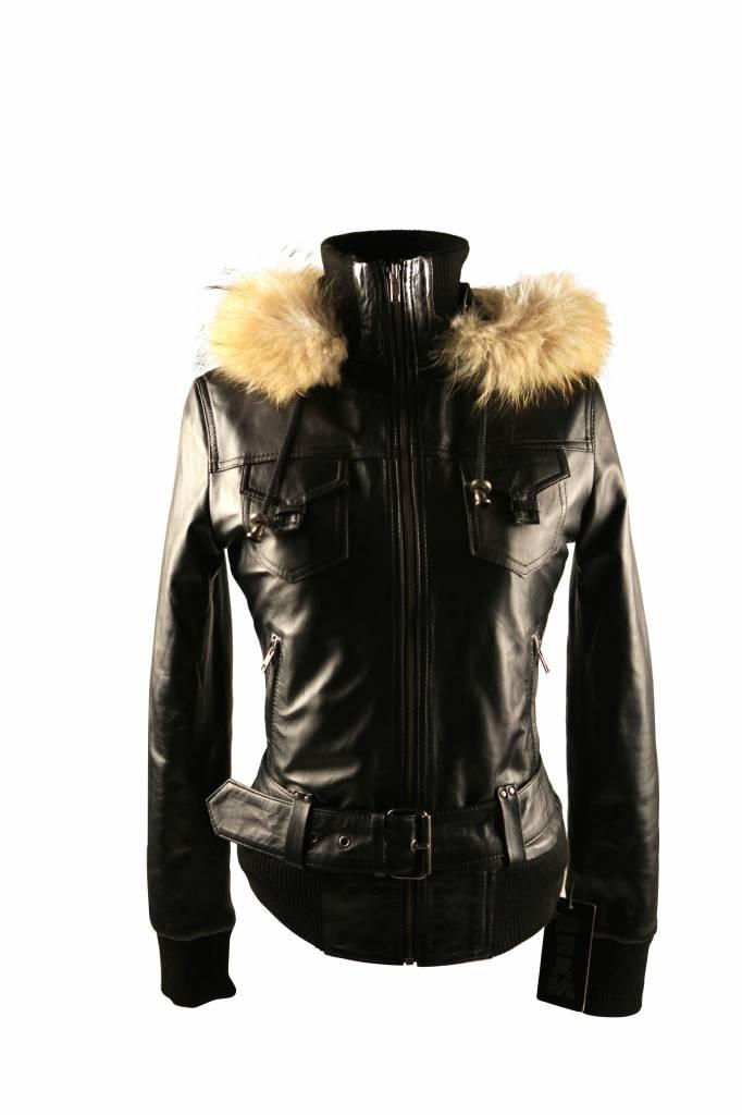 ARKS Leren Dames jas  zwart Cruz5