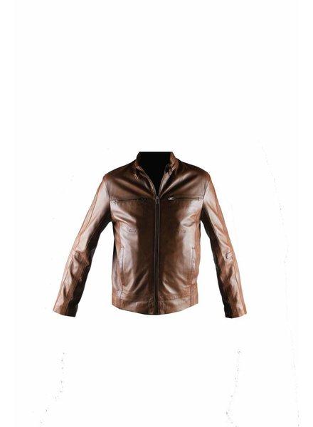 Carlo Sacchi Heren Leren jas AK263 bruin