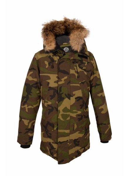 Attentif Heren camouflage parka winter jas
