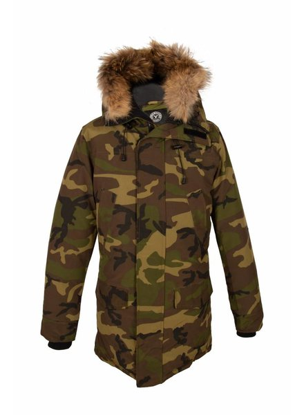 Heren camouflage parka winter jas