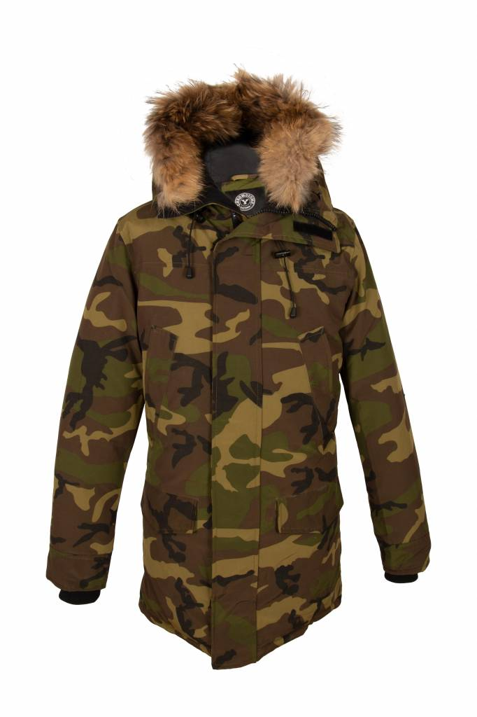 Attentif Heren camouflage parka winter jas