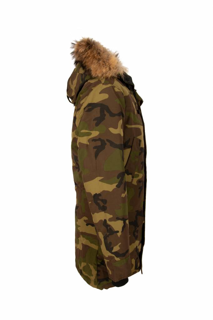 Heren camouflage parka winter jas
