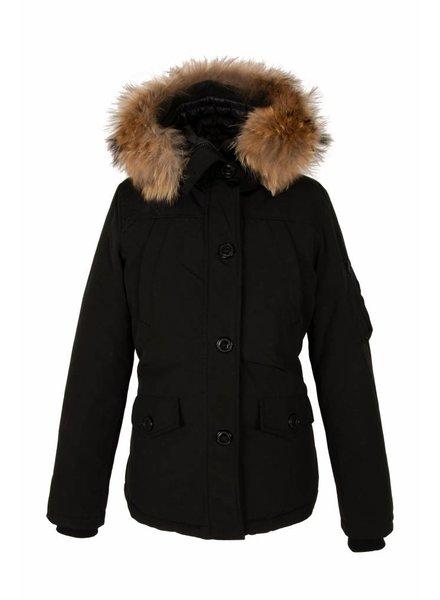 Dames winter jas Canada kort zwart