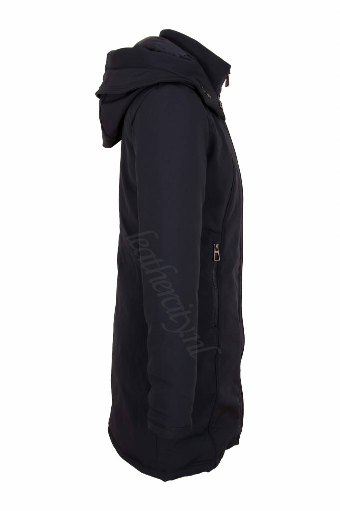 Laura Dames softshell winterjas blauw V1
