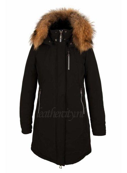 Laura Dames softshell winterjas zwart V1