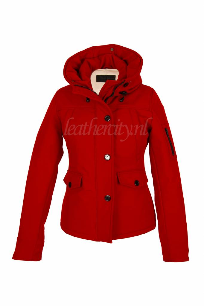 Carlo Sacchi Dames softshell winterjas rood 9959