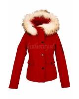 Dames softshell winterjas rood 9959