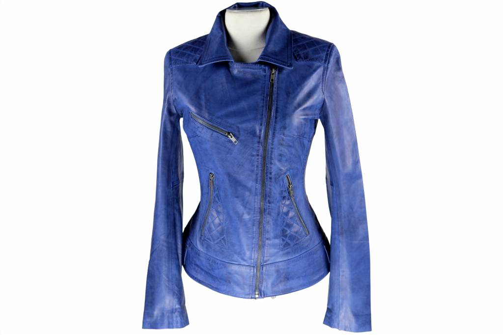 Leren Dames Jas Blauw.Dames Leren Jas Jane 4 Aqua Blauw Leather City