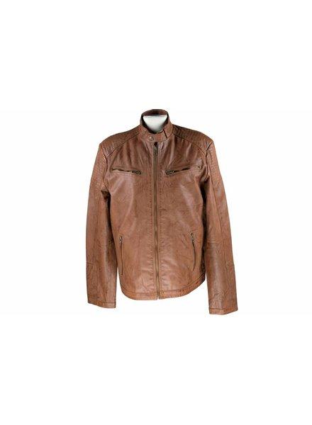 Heren Leren jas M011 cognac
