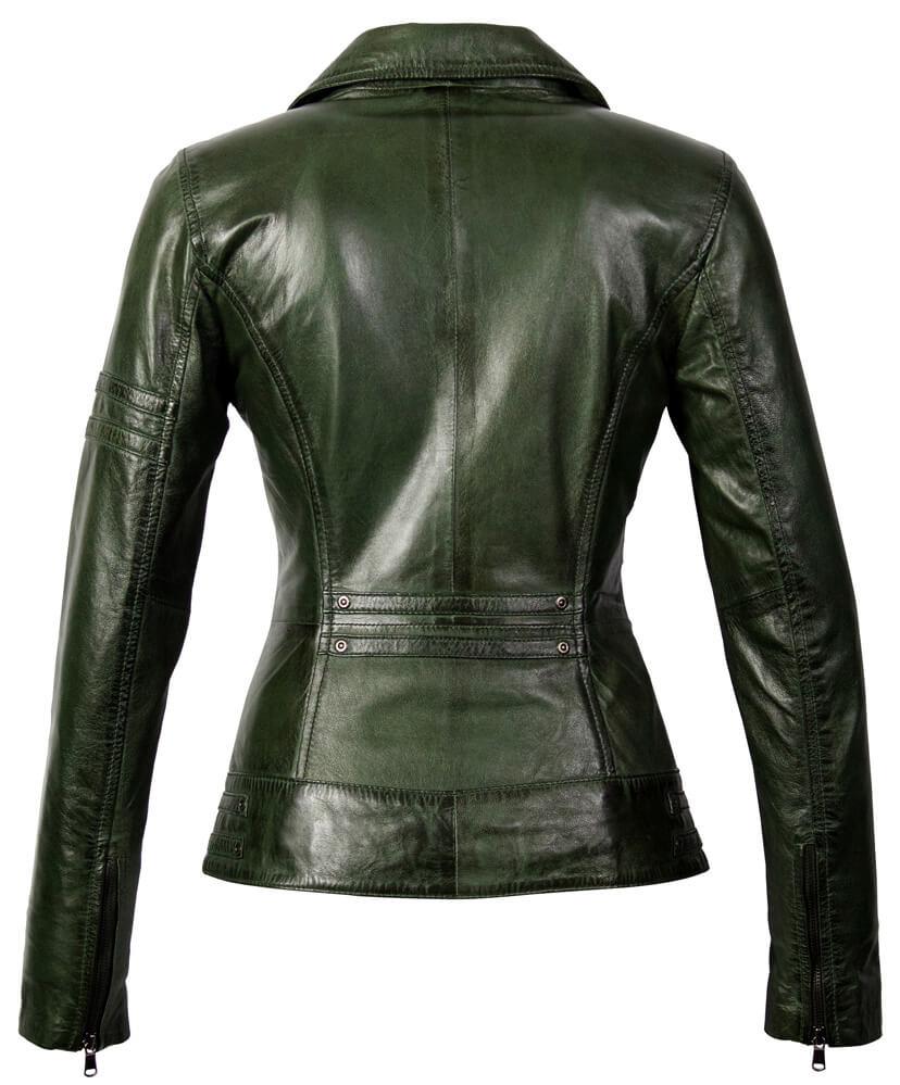 Carlo Sacchi Leren jassen dames jane 5 groen