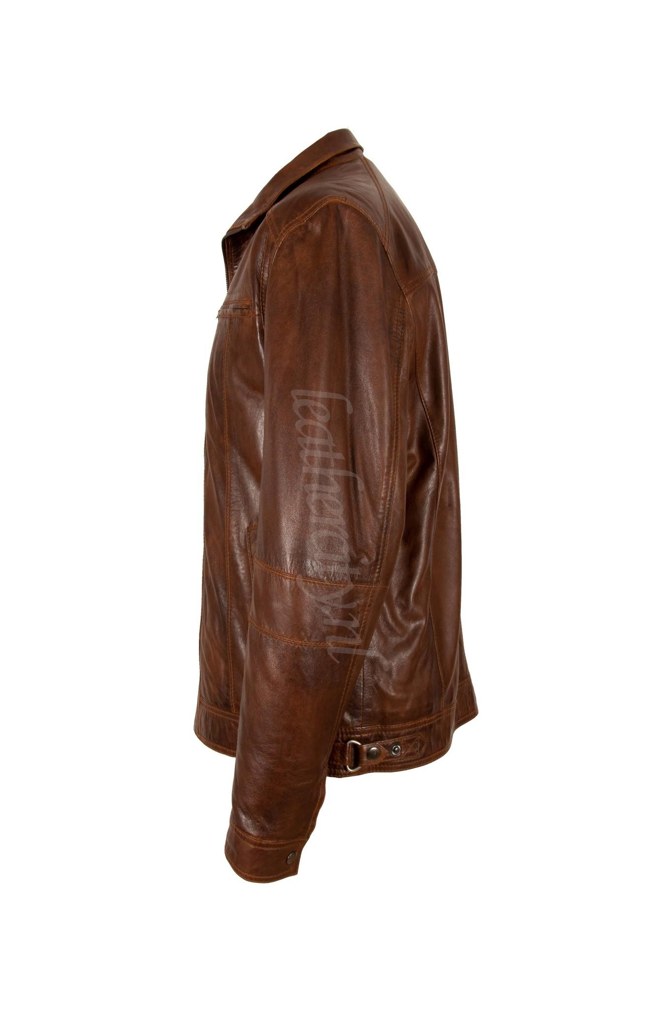 Trendy Winterjas Heren.Leren Jas Heren Bruin Comfort Leather City