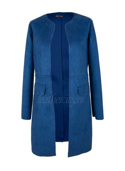 Moda Bella Dames zomer jas blauw