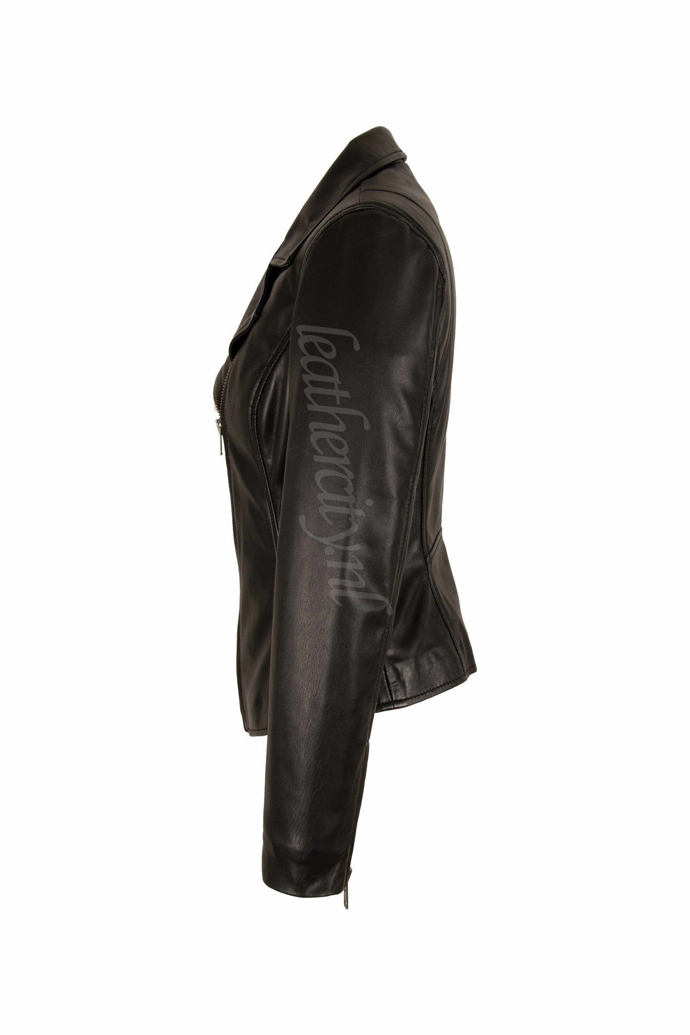 Carlo Sacchi Dames leren jas perfecto IN zwart