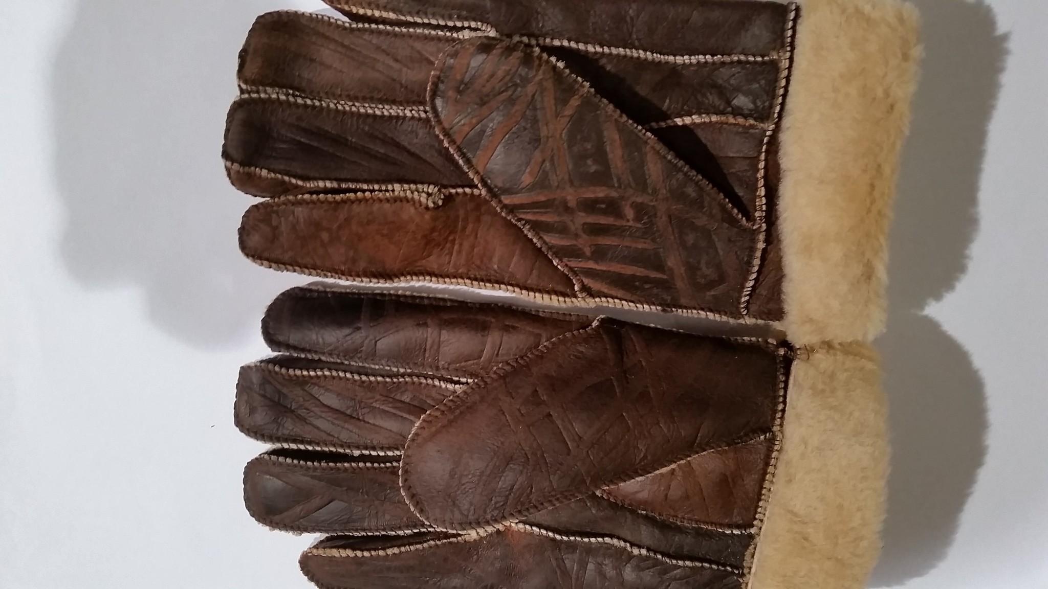 Lammy handschoenen gevlekt donker bruin