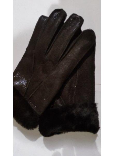Lammy handschoenen nw donker bruin