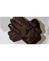 Lammy handschoenen decoor donker bruin