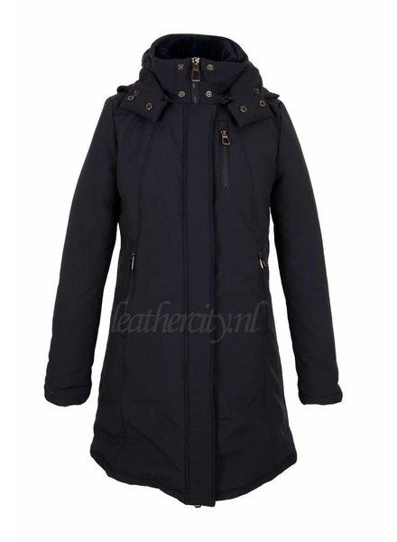 Laura Dames winterjas Laura blauw