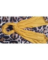 Dames en heren sjaal geel van cashmere