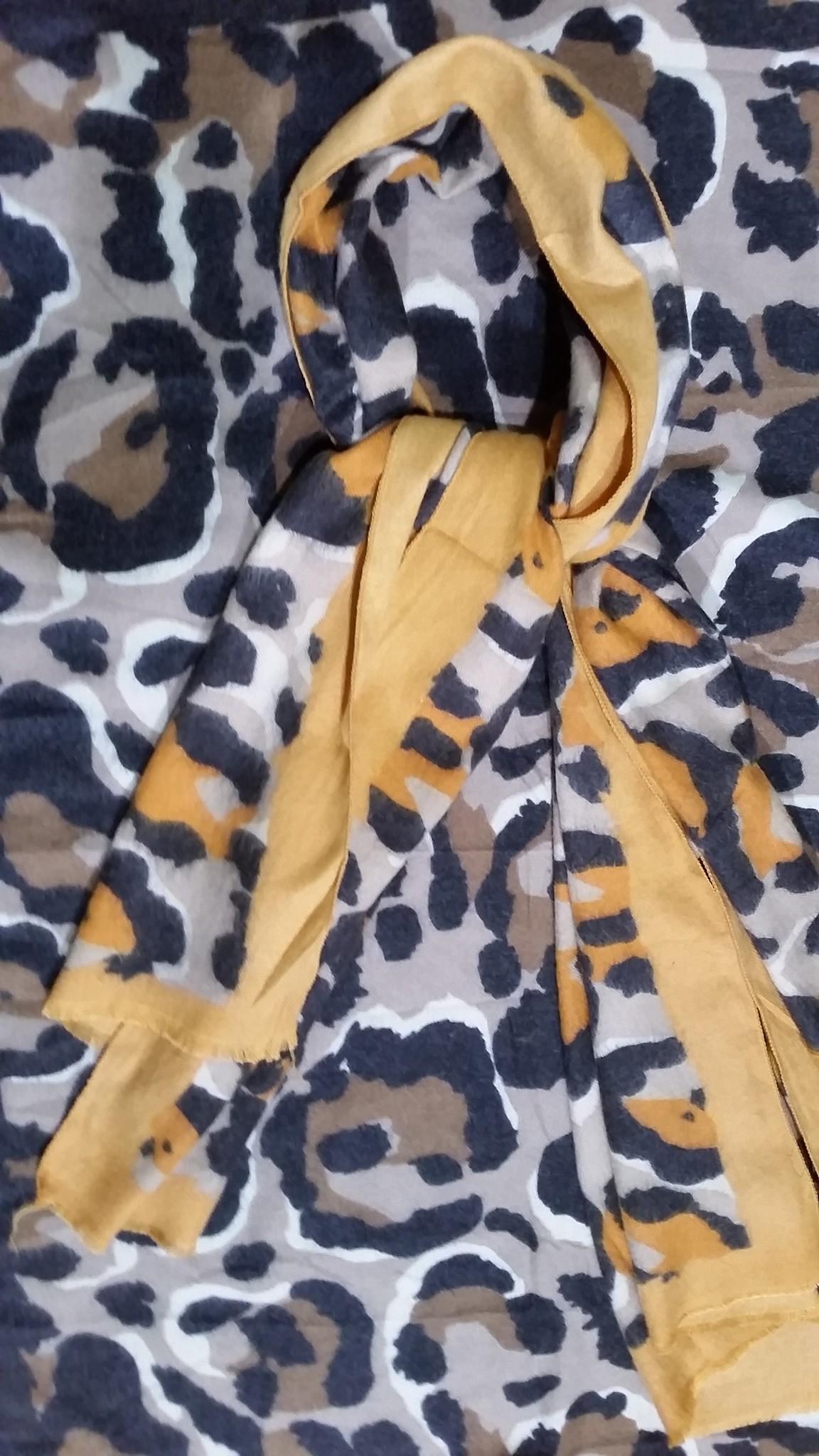 Dames sjaal cashmere geel