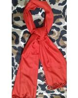 Dames sjaal rood van cashmere