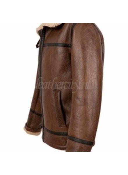 Carlo Sacchi Heren lammy coat bruin