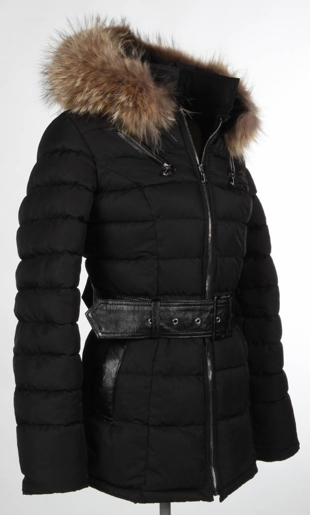 Milan Ferronetti Dames  winterjas Bubel zwart