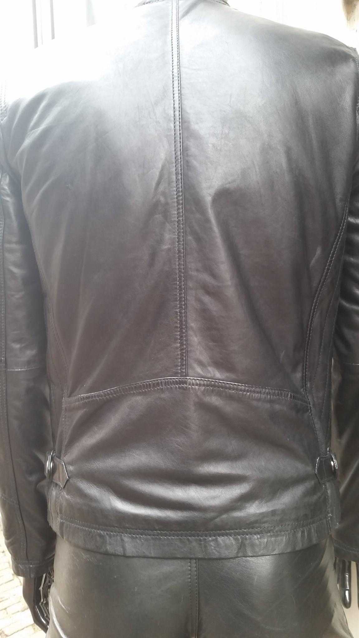 Leren jas heren zwart