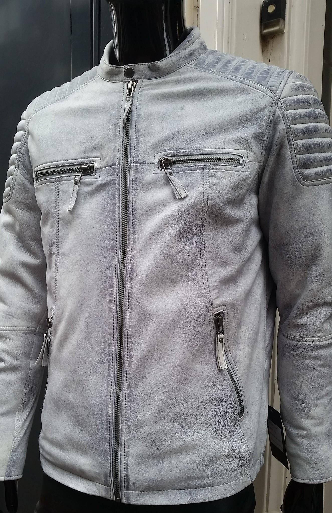 Leren jas heren wit