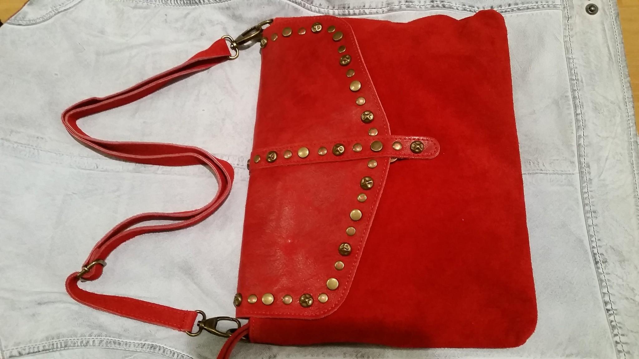 Rood leren dames tas