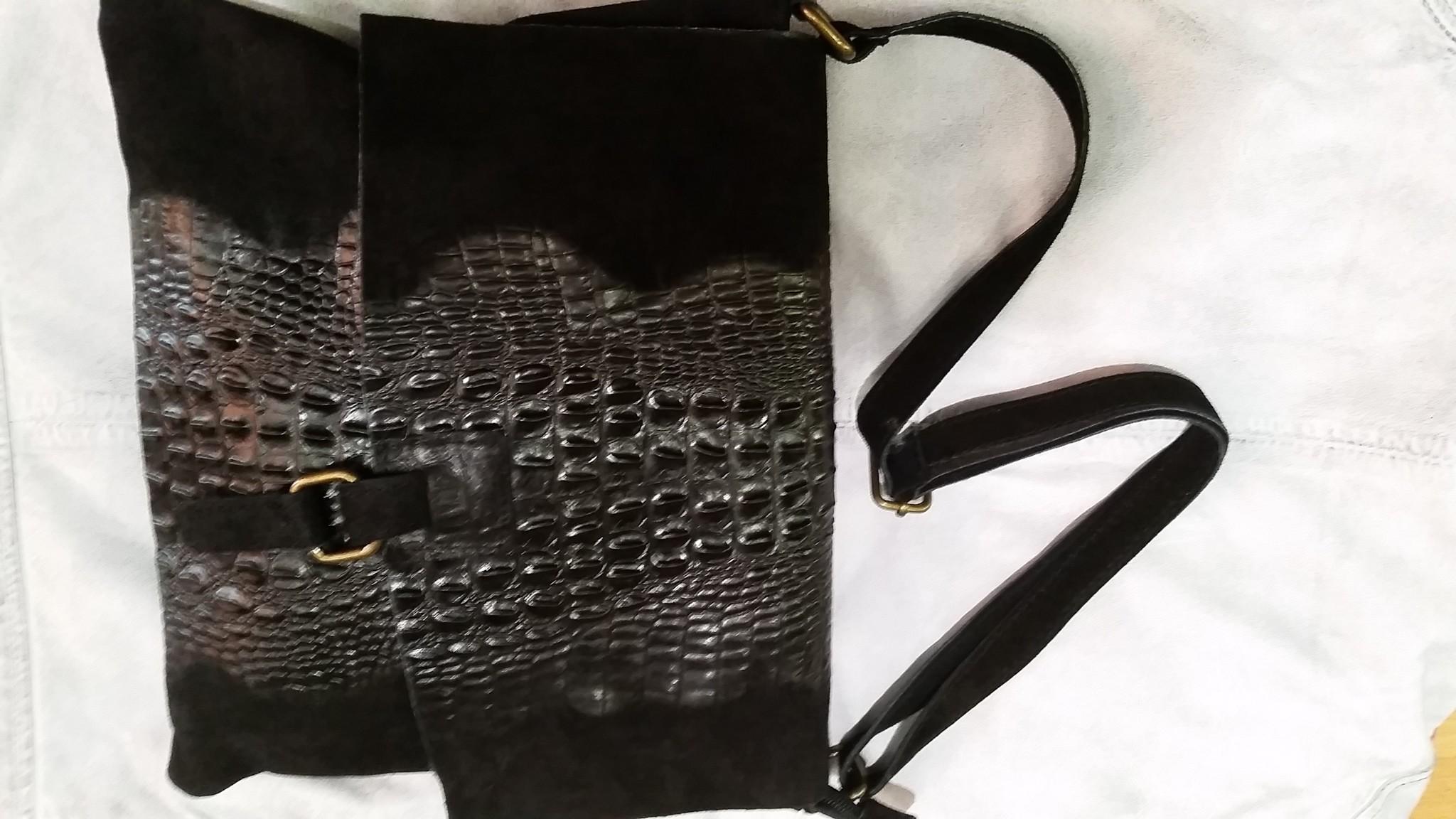 leren tas Dames zwart leren tas
