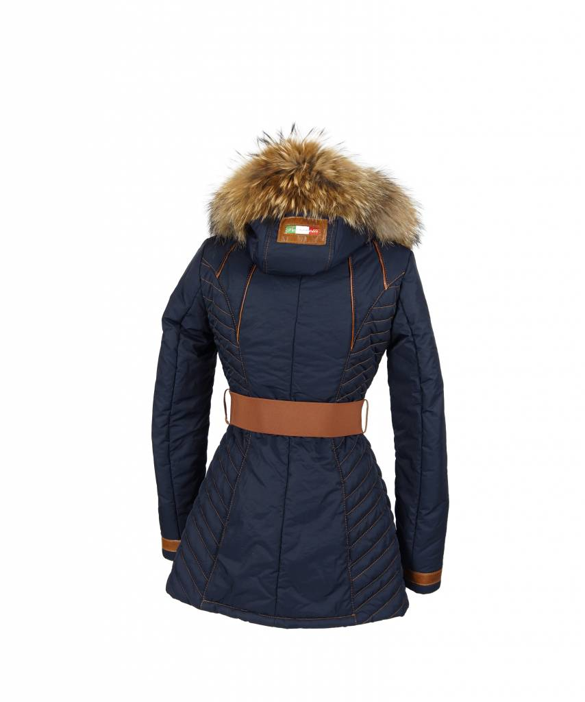 Winterjas Donkerblauw Dames.Lang Winterjas Voor Dames Leather City