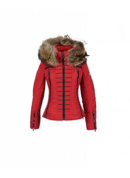 Milan Ferronetti Dames winterjas met bontkraag