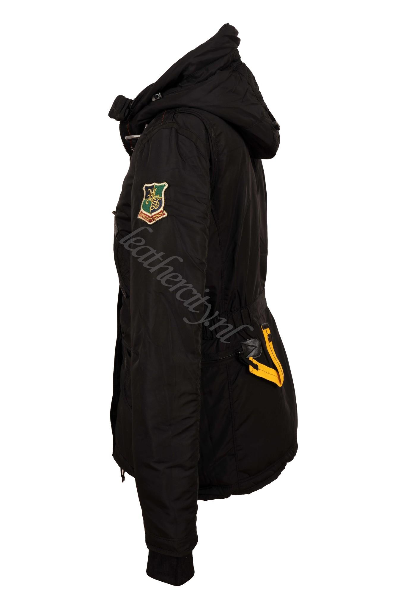 Dames winterjas met bont zwart PJ kort