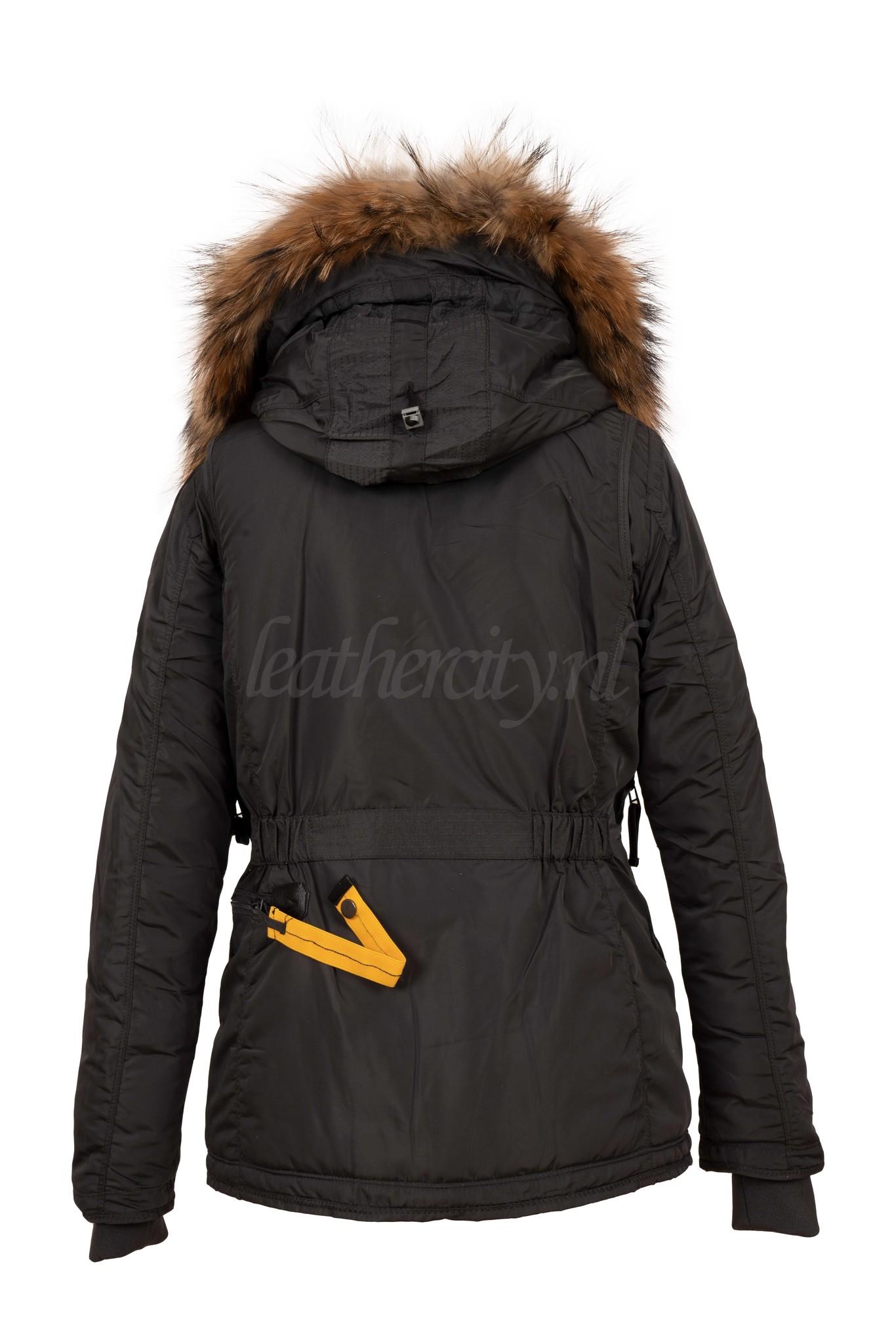 Dames winterjas met bont grijs PJ kort