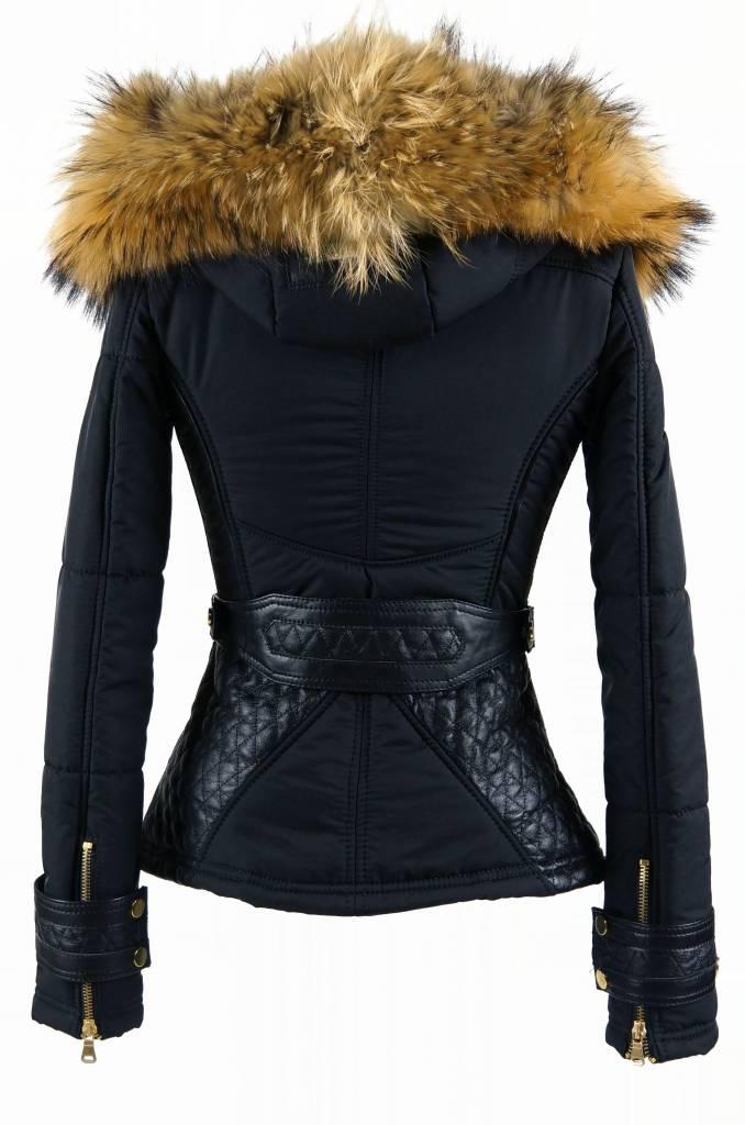 Dames Warme Winterjas.Winter Bontjas Dames Leather City
