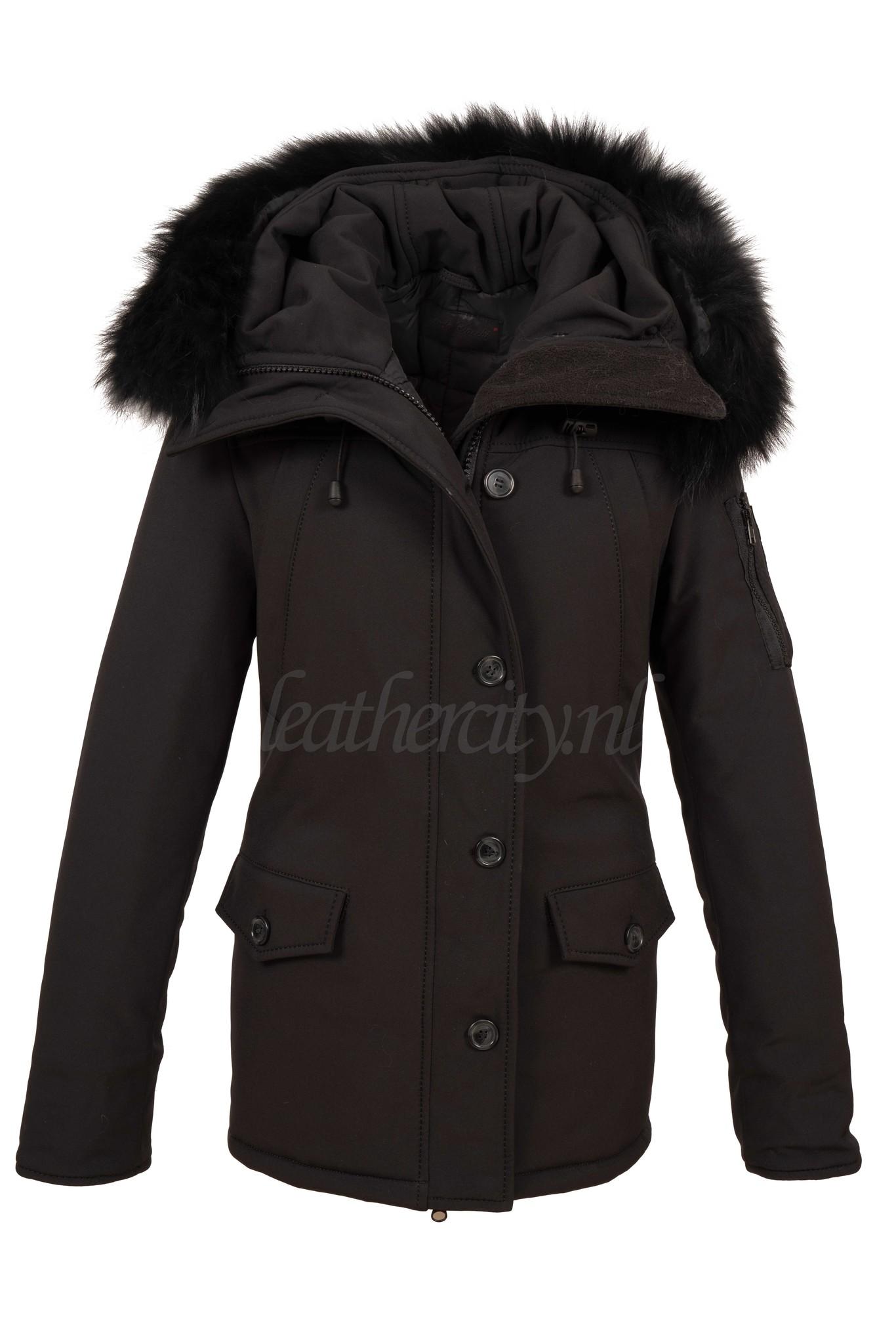 Carlo Sacchi  Dames winterjas softsheel zwart