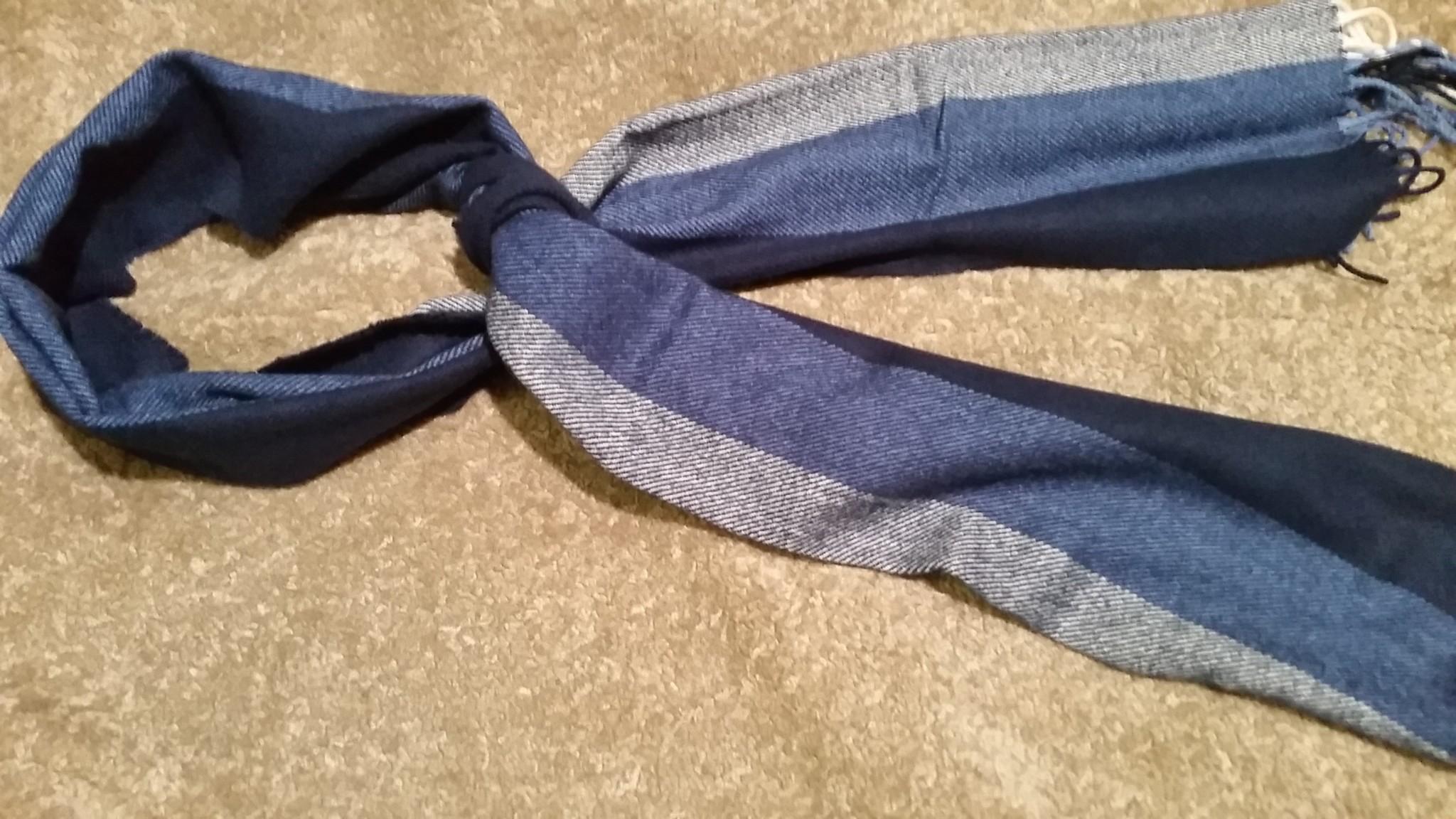 Heren sjaal grijs