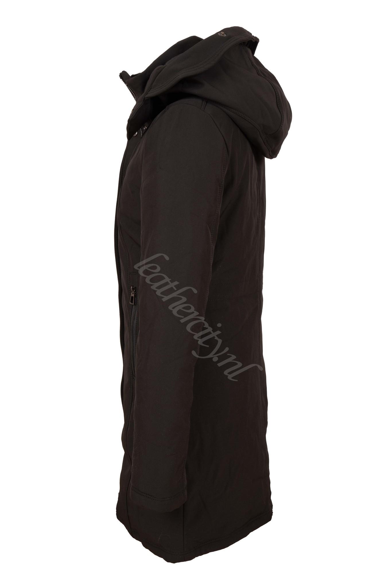Dames zwart softshell winterjas laura